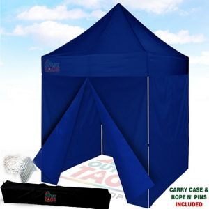 8x8 Blue Iron Horse Canopy with 4 walls