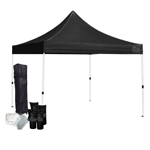 black 10x10 canopy tent bundle