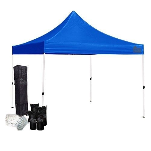 blue 10x10 canopy tent bundle