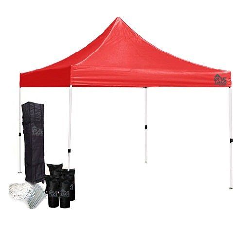 red 10x10 canopy tent bundle