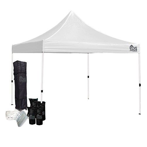 10x10 Light Duty Canopy Bundle White