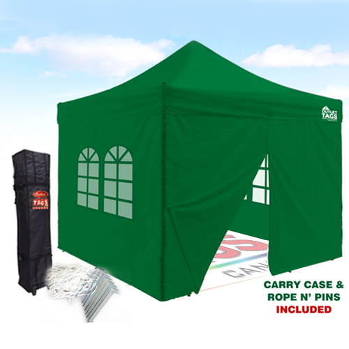 10×10 Iron Horse Canopy Tent with Four Walls u2013 Green  sc 1 st  Outlet Tags & 10x10 Iron Horse Canopy with Four Walls - Green | Outlet Tags ...