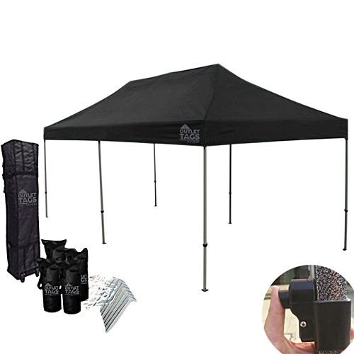 sports shoes c5dda 27602 Black 10×20 Pop Up Tent Top & Frame - Heavy Duty