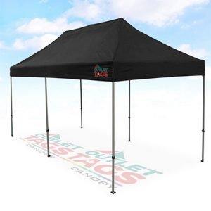 10x20 Black Canopy