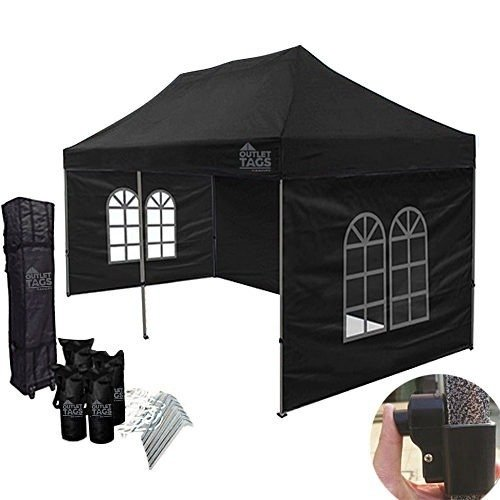 10x20 black canopy with walls