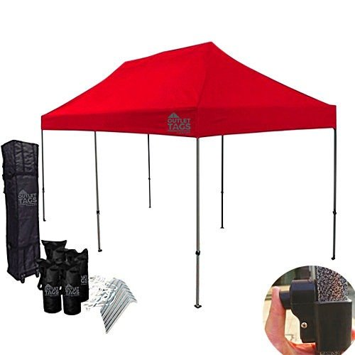 10x20 red pop up tent
