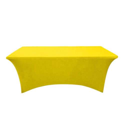 Yellow Plain Stretch Table Cover For Trade Shows & Events