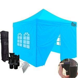 10x10 baby blue color canopy with four walls