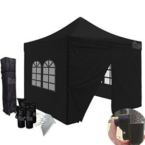 black canopy with walls