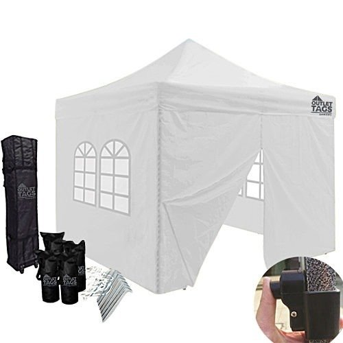10x10 white canopy tent with four walls
