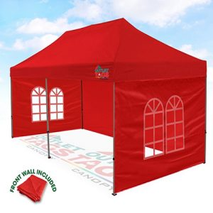 10x20 Red Canopy with Walls