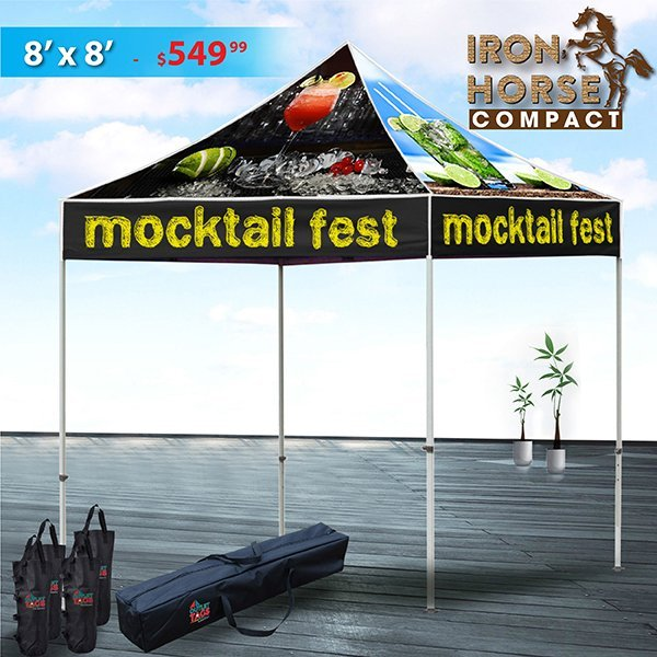 8x8 iron horse compact custom tent package - Compact Canopy 2016
