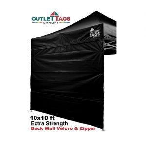 Full Back Tent Wall Colour Black