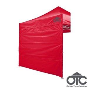 red colour canopy wall