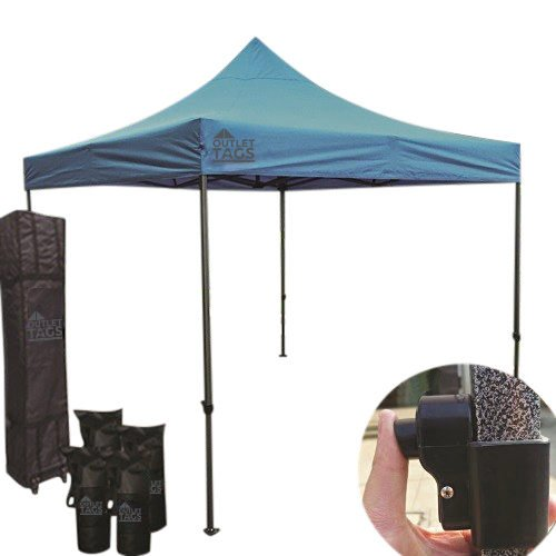 baby blue pop up tent