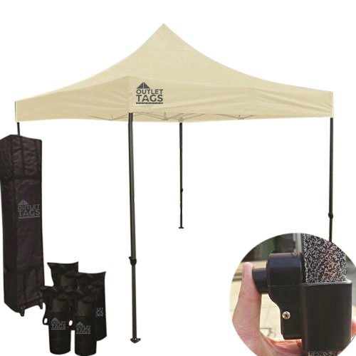 beige pop up tent