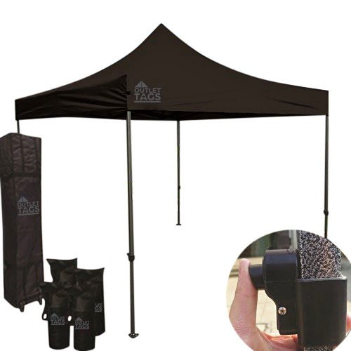 10x10 black pop up tent