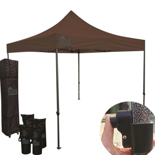 10x10 coffee color canopy