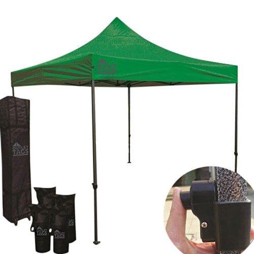 10x10 green pop up canopy tent