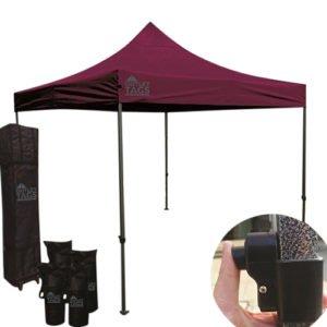 10x10 maroon pop up tent