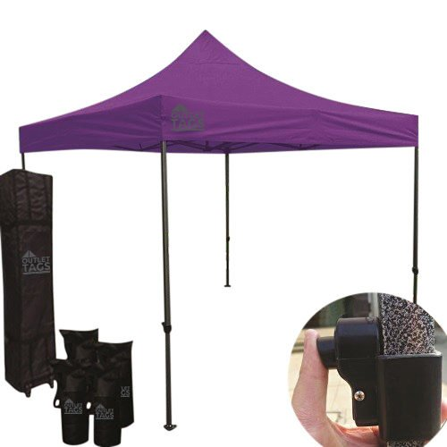 purple pop up tent