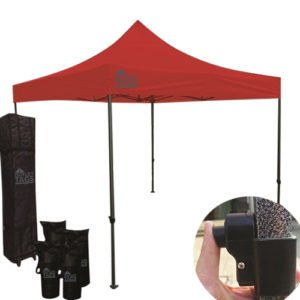 red pop up canopy tent