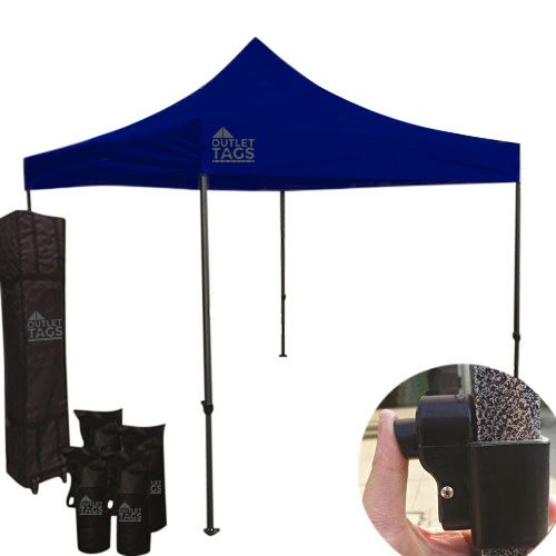 10x10 royal blue canopy pop up tent