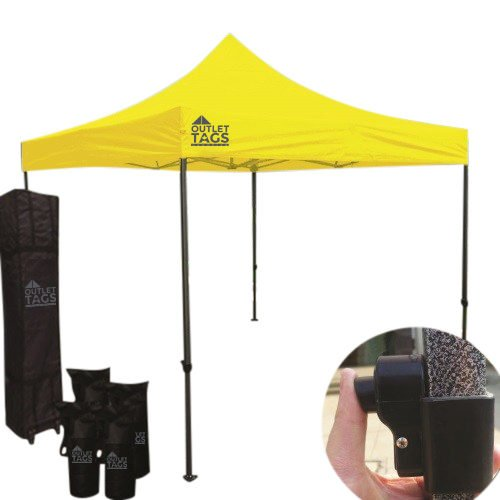 10x10 yellow pop up canopy tent