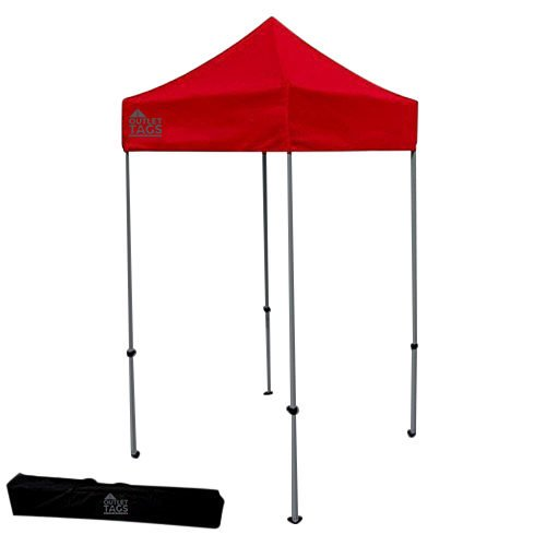 red 5x5 pop up canopy tent