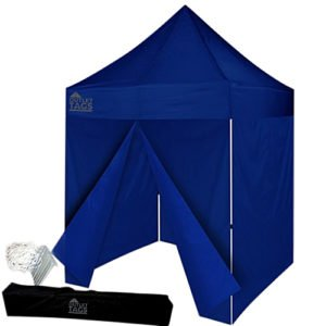 blue 8x8 canopy tent with walls