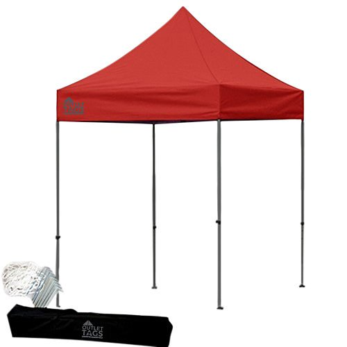 red 8x8 pop up tent canopy