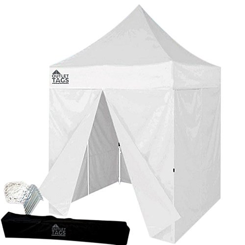 white 8x8 canopy with four walls