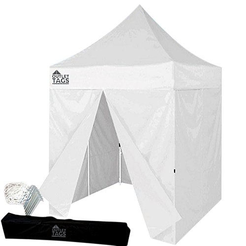 White 8×8 Canopy with Four Walls