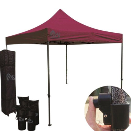 10x10 wine red pop up canopy
