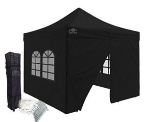 Black 10x10 canopy with walls