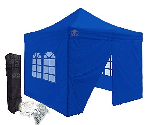 Blue 10x10 canopy with four walls