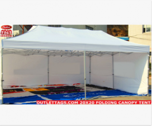 20×20 Folding Canopy Tent – 50MM HEAVY DUTY
