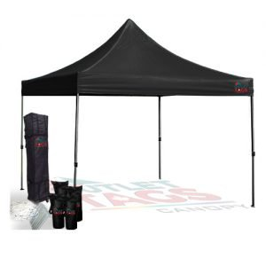 Light Duty Canopy Tent Bundle - Colour Black