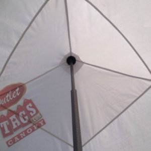 10×10 Iron Horse Canopy Tent with Four Walls – White