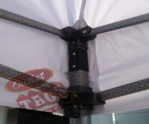 10x10 Iron Horse Canopy - Salt & Pepper Frame - Medium Quality - Cream