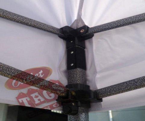 10x10 Iron Horse Canopy - Salt & Pepper Frame - Medium Quality - Wine Red