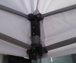 10x10 Iron Horse Canopy - Salt & Pepper Frame - Medium Quality - Black
