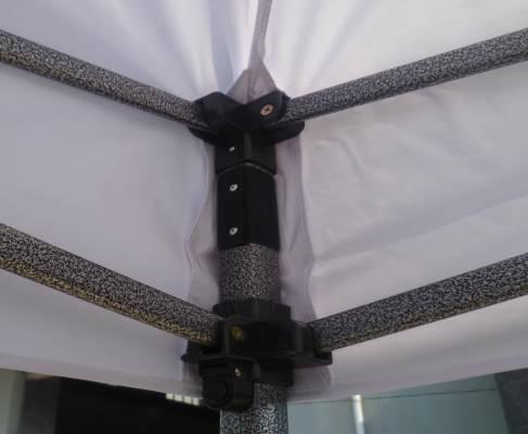 10x10 Iron Horse Canopy - Salt & Pepper Frame - Medium Quality - White