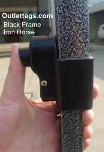 10x10 Iron Horse Canopy - Salt & Pepper Frame - Medium Quality - Red