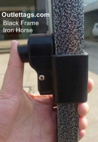 10x10 Iron Horse Canopy - Salt & Pepper Frame - Medium Quality - Pink