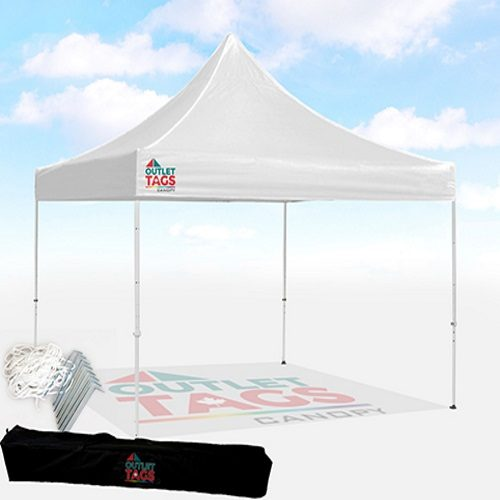 10×10 Pop-Up Canopy TENT u2013 White & 10×10 Pop-Up Canopy TENT u2013 White | Outlet Tags Canopies Canada ...