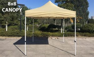 8×8 Iron Horse Canopy with Four Walls – White