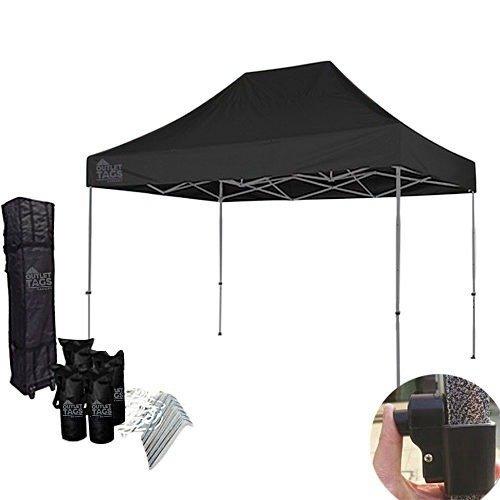 10x15 black pop up tent