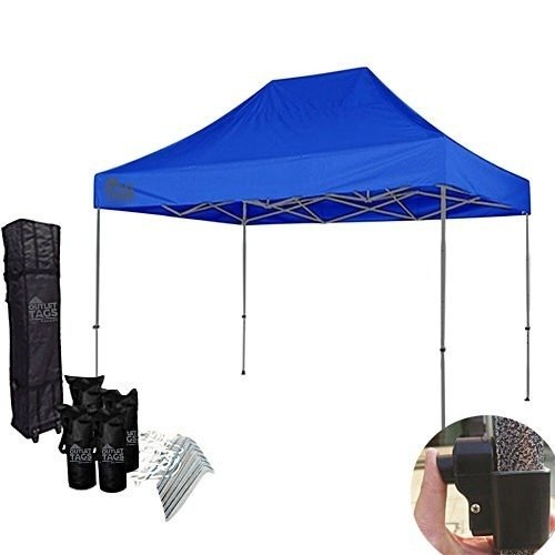 10x15 blue pop up tent