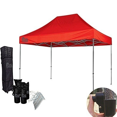 10x15 red pop up tent